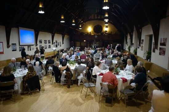 History Never Tasted So Good, Colonial Style Dinner, A colonial style dinner was held at Trinity Cathedral for friends and supporters of the Trent House Association in celebration of the 300th anniversary year of the construction of the William Trent House