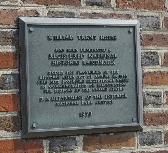trent house plaque